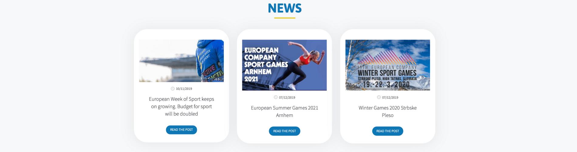 Screen site EFCS news